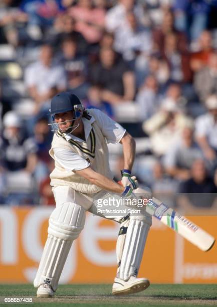 Warwickshire captain Dermot Reeve batting during his innings of 46 not out in the Benson and Hedges Cup Semi Final between Surrey and Warwickshire at...
