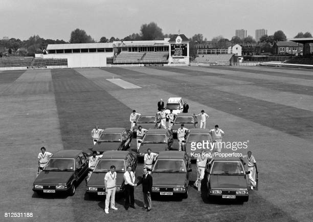 Warwickshire County Cricket Club secretary Alan Smith takes delivery of a fleet of Talbot Tagoras for the players at Edgbaston Birmingham 16th May...