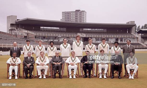 Warwickshire County Cricket Team and the Committee at Edgbaston in Birmingham September 1972 Back row Bernard Thomas Norman McVicker John Whitehouse...