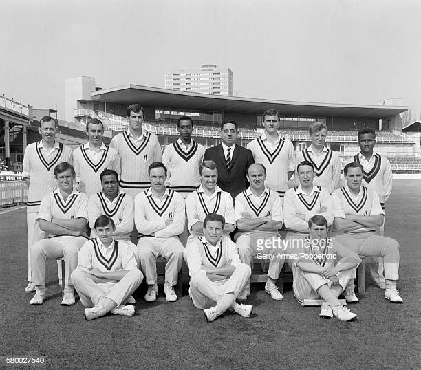Warwickshire cricket team at Edgbaston in Birmingham 23rd April 1968 Standing Edwin Legard Neal Abberley David Brown Lance Gibbs Mr P Pike Bill...