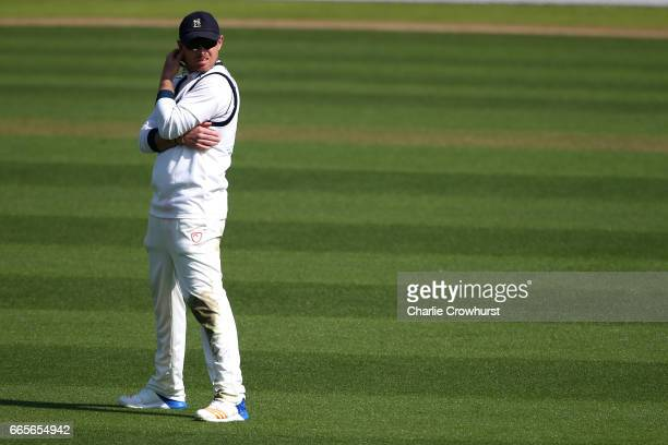 Warwickshire's Ian Bell looks on during the Specsavers County Championship Division One match between Surrey and Warwickshire at The Kia Oval on...