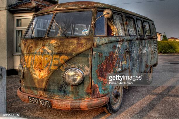 Was on my way home and noticed this rat looking VW van in a car park of a pub,and i had to take a shot, I loved the look of it all beat up and rusty...