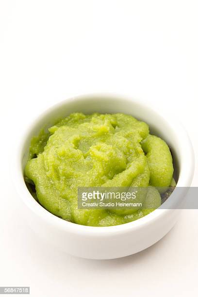 wasabi - green horseradish paste, traditional japanese - wasabi sauce stock pictures, royalty-free photos & images