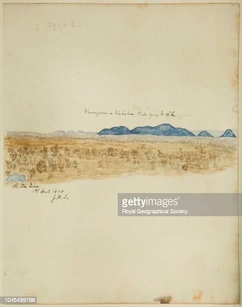 Wasagara and Wahehe hills lying North 10° East of The Ziwa Tanzania