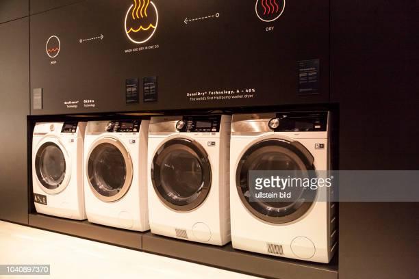 AEG Waschmaschine mit Sensidry Technologie auf der IFA in Berlin 2017