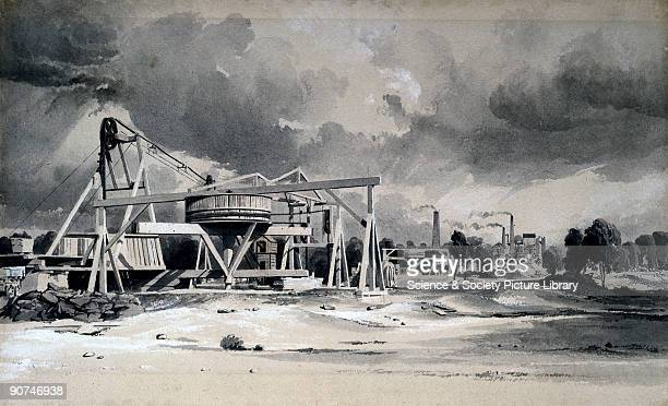 Wash drawing by John Cooke Bourne, from a collection of views of the construction of the London & Birmingham Railway . In 1833 Robert Stephenson was...