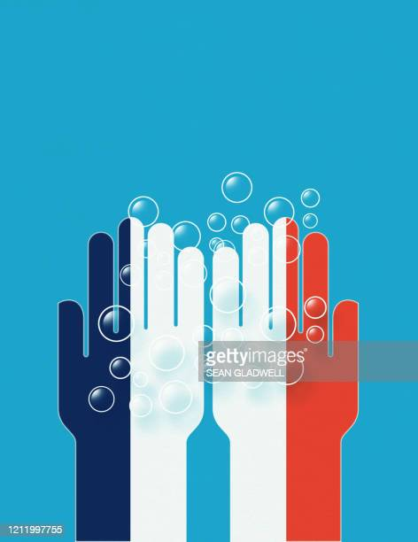 wash hands france - covid icons stock pictures, royalty-free photos & images