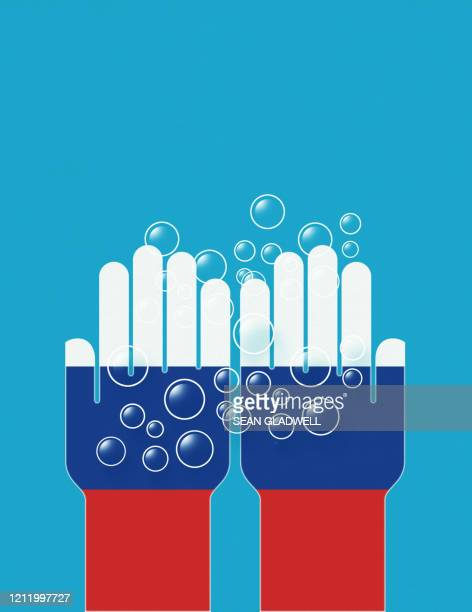 wash hands russia - covid icons stock pictures, royalty-free photos & images