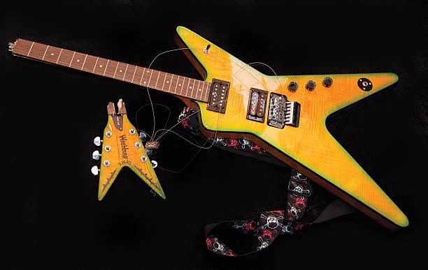 dimebag darrell guitar valuation pictures getty images. Black Bedroom Furniture Sets. Home Design Ideas