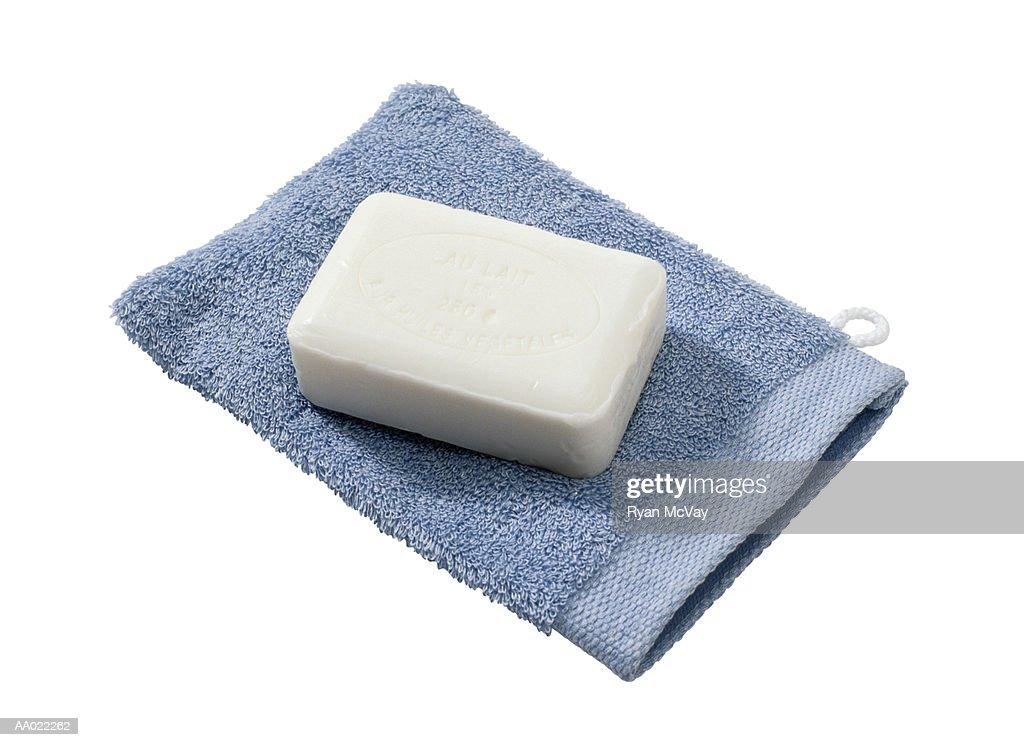 Washcloth and Soap : Stock Photo