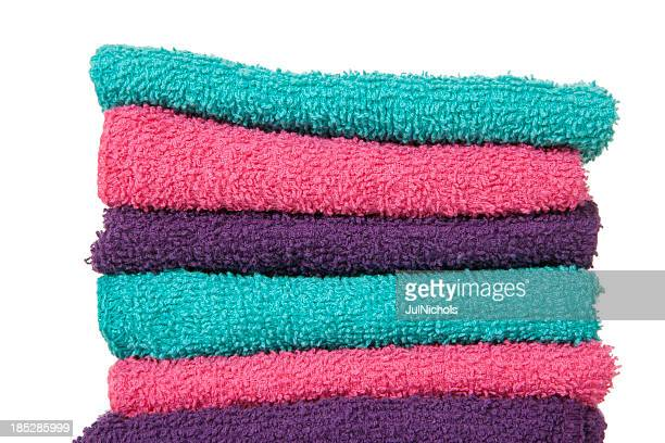 Washcloths: Colorful Folded Stack