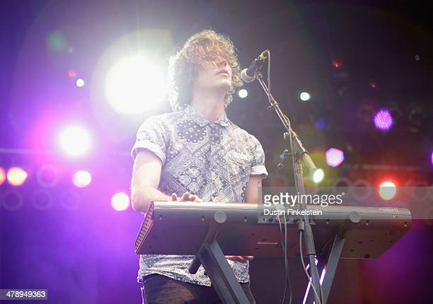 Washed Out performs onstage during Foster The People Washed Out and Young and Sick during the 2014 SXSW Music Film Interactive Festival at Austin...