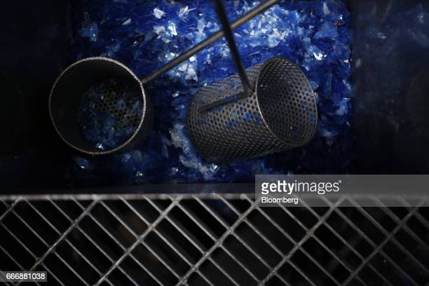 Washed polyester Xray film is seen before being recycled into silver nitrate at the Rochester Silver Works LLC facility in Rochester New York US on...