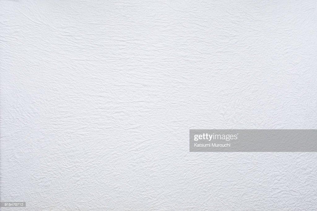 Washi white paper texture background : Stock Photo