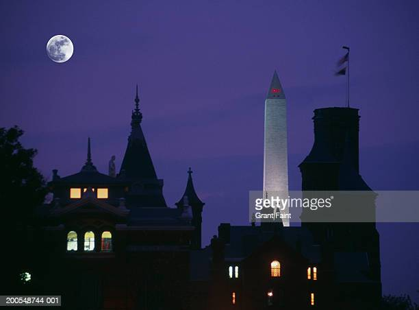 usa, washigton dc, smithsonian museum, dusk - smithsonian institution stock pictures, royalty-free photos & images