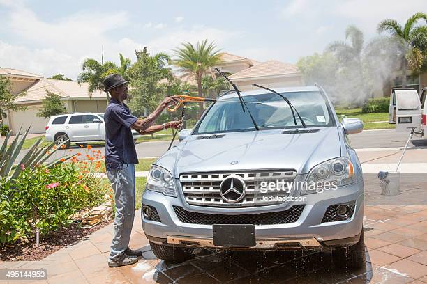 Washing a Mercedes Benz SUV at home
