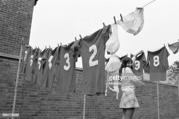 Washing day for Orient Girls football team 27th September 1970