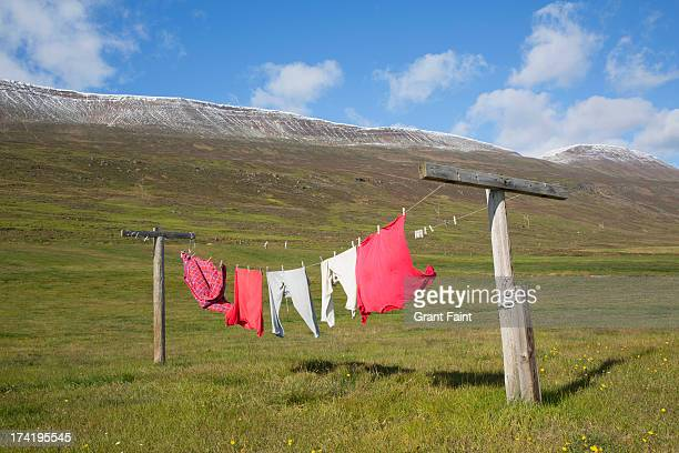 Washing drying in wind and sun
