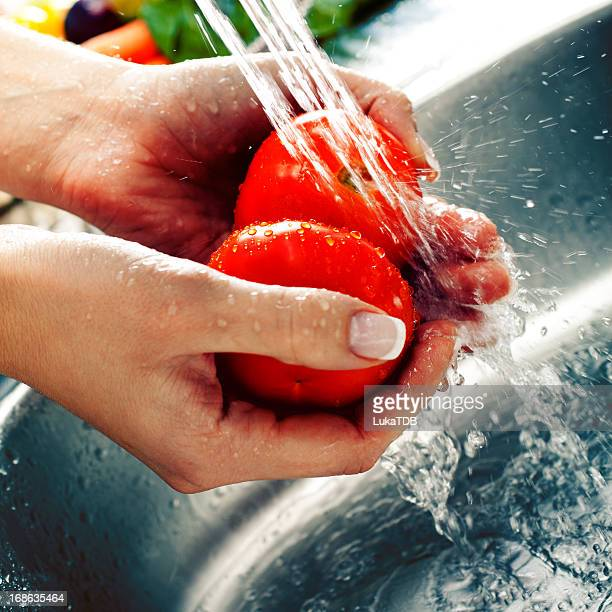 洗浄新鮮な野菜
