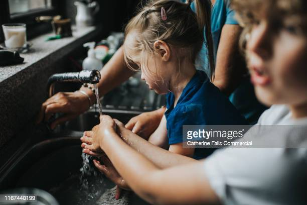 washing hands - teaching stock pictures, royalty-free photos & images