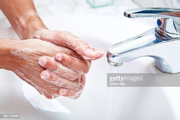 washing hands - hand washing stock pictures, royalty-free photos & images