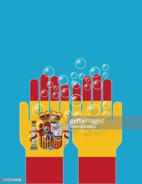 washing hands spain - spain stock pictures, royalty-free photos & images