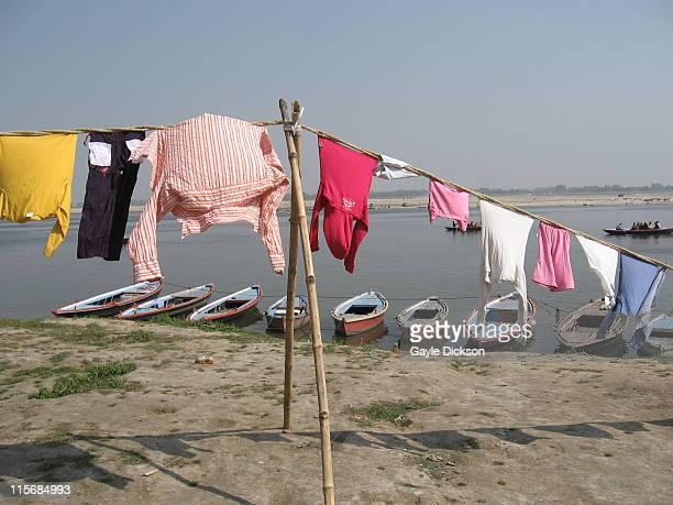 Washing line on River Ganges, Varanasi