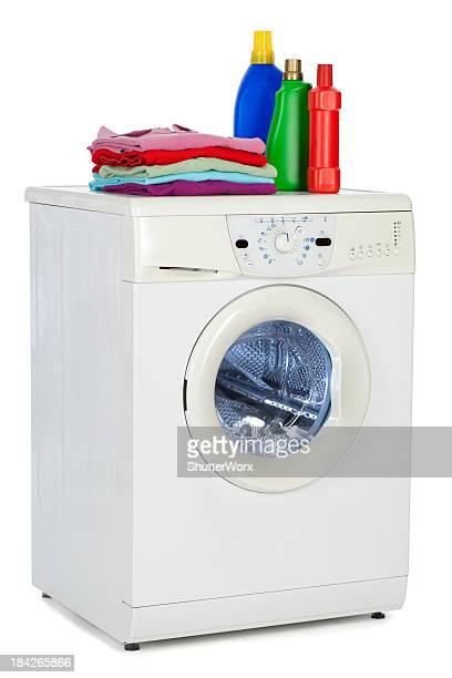 waschmaschine - weichspüler stock-fotos und bilder
