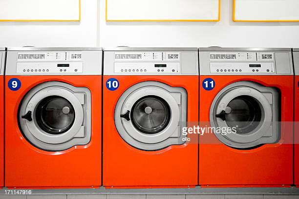Washing machines in a public laundromat