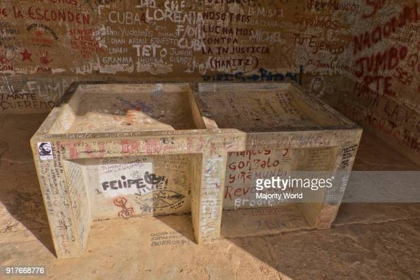 Washing sink in laundry room in Vallegrande Bolivia where Che Guevara was taken after being killed 50 years ago on 8 October 1967 The place is part...