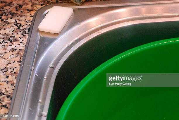 washing up bowl, a bar of soap and a sink - lyn holly coorg stock pictures, royalty-free photos & images