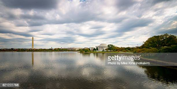 washington and jefferson reflections - reflecting pool stock pictures, royalty-free photos & images