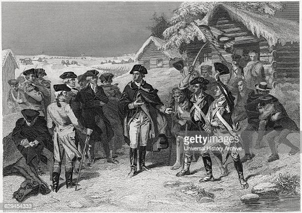 Washington and the Committee of Congress at Valley Forge Winter 177778 from a Painting by WH Powell Engraving Printed circa 1879 by Henry J Johnson...
