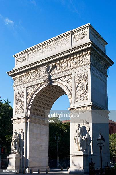 washington arch - washington square park stock pictures, royalty-free photos & images