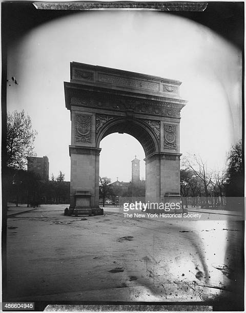 Washington Arch, Washington Square Park, New York, New York, 1895.