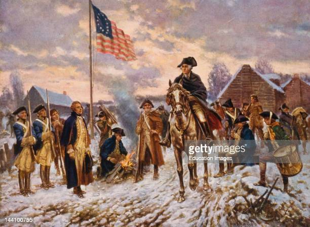 Washington At Valley Forge By E Percy Moran C 1911