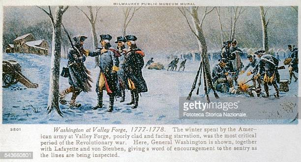 'Washington at Valley Forge The winter spent by the American army at Valley Forge poorly clad and facing starvation was the most critical period of...