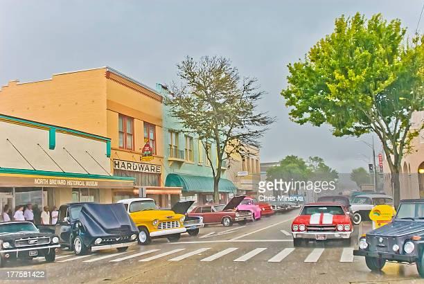 washington avenue titusville florida - titusville florida stock pictures, royalty-free photos & images