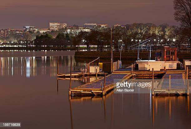Washington Basin at night