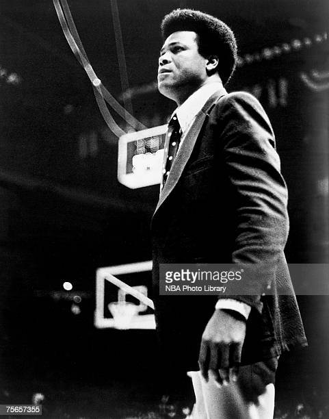 Washington Bullets head coach KC Jones instructs his team during a 1975 NBA game at the Capital Centre in Washington DC NOTE TO USER User expressly...