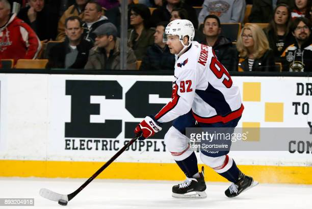 Washington Capitals center Evgeny Kuznetsov skates up ice during a game between the Boston Bruins and the Washington Capitals on December 14 at TD...