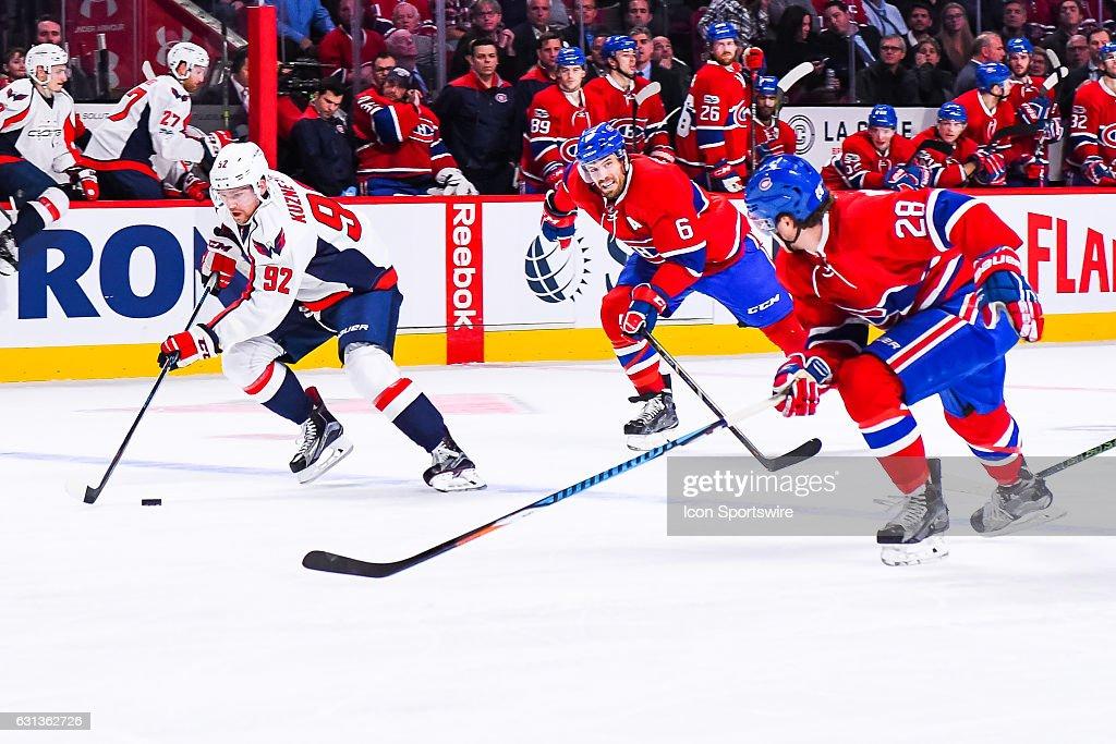 NHL: JAN 09 Capitals at Canadiens : News Photo
