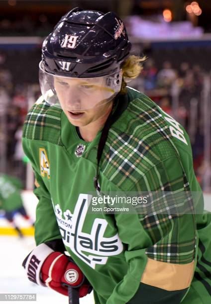 Washington Capitals center Nicklas Backstrom warms up prior to the game against the Winnipeg Jets on March 10 at the Capital One Arena in Washington...
