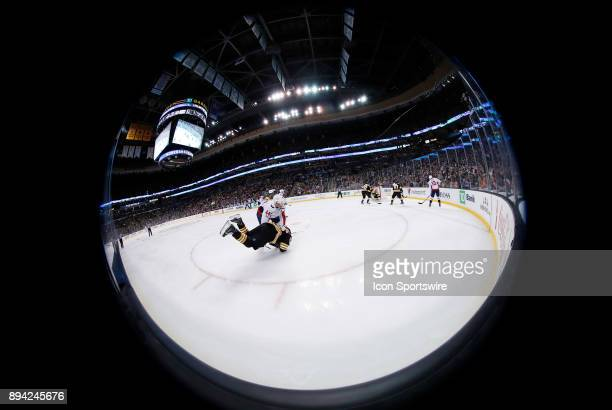 Washington Capitals defenseman Brooks Orpik puts Boston Bruins left wing Brad Marchand down on the ice away from play before a game between the...