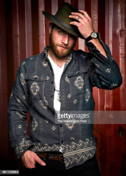 Washington Capitals goalie Braden Holtby poses for photos during a fashion shoot at Union 206 Studios on Tuesday March 7 2017 This outfit consist of...