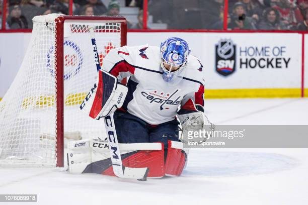 9847673c27f Washington Capitals Goalie Pheonix Copley makes a save during second period  National Hockey League action between