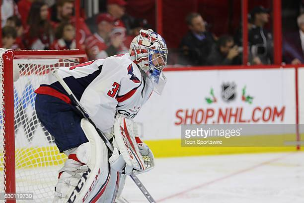 Washington Capitals Goalie Philipp Grubauer in action during the 2nd period of the Carolina Hurricanes game versus the Washington Capitals on...