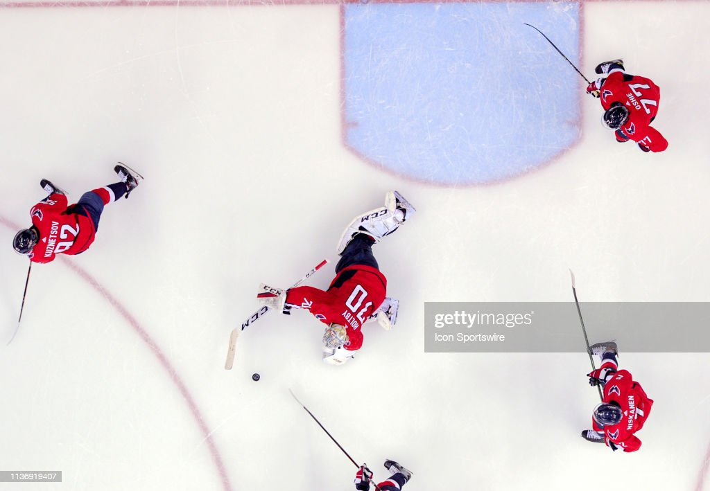 NHL: APR 13 Stanley Cup Playoffs First Round - Hurricanes at Capitals : News Photo