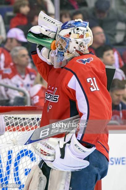 Washington Capitals goaltender Philipp Grubauer in action on February 4 at the Capital One Arena in Washington DC The Vegas Golden Knights defeated...