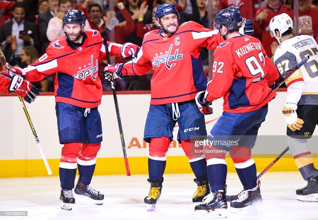 NHL: OCT 10 Golden Knights at Capitals : News Photo